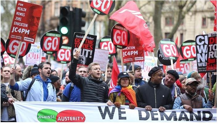 London: Massenproteste gegen Abwälzung der Krisenlasten