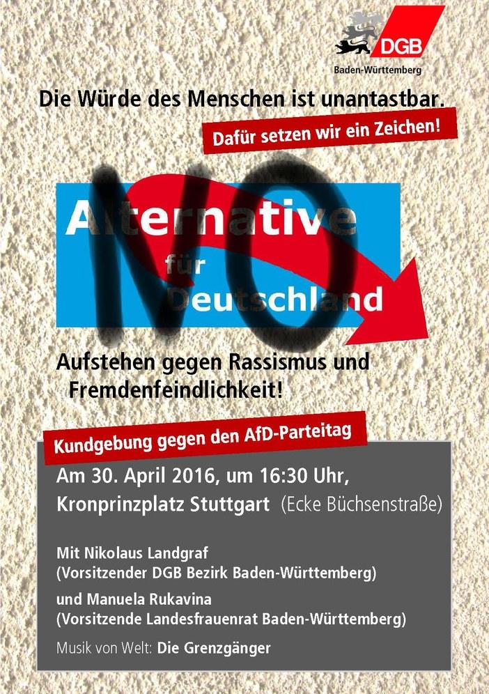 Proteste gegen AfD-Bundesparteitag in Stuttgart