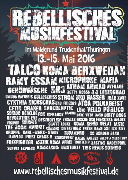 Faschistische Drohungen - jetzt erst recht zum Rebellischen Musikfestival an Pfingsten