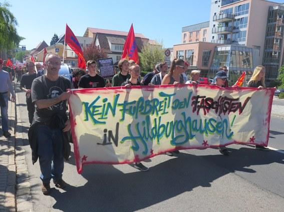 Hildburghausen setzt ein Zeichen: Kein Fußbreit den Faschisten!