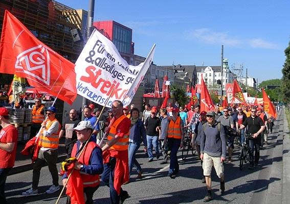 Heute Küstenaktionstag der IG Metall - Donnerstag NRW-weite Demonstration in Köln