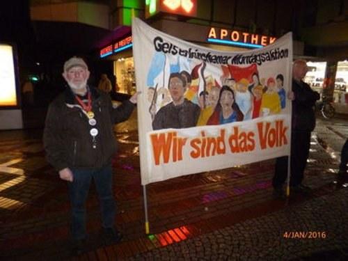 Montagsdemo Gelsenkirchen solidarisch mit BP-Belegschaft in Scholven und Horst