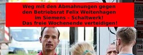 IG-Metall-Betriebsrat Felix Weitenhagen wird die Kündigung angedroht