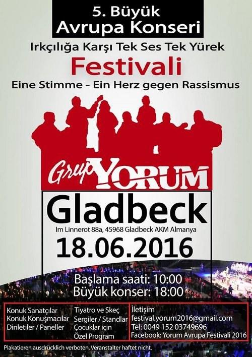 Repressionen gegen Grup Yorum-Konzert – Protest ist angesagt!