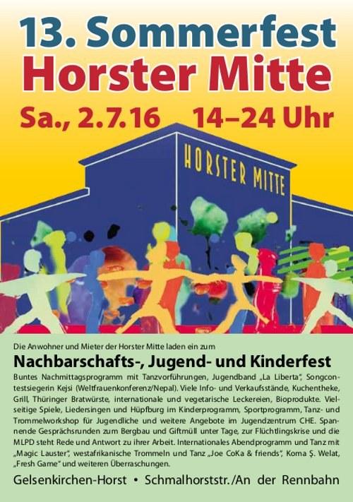 Auf gehts zum 13. Sommerfest in der Horster Mitte!