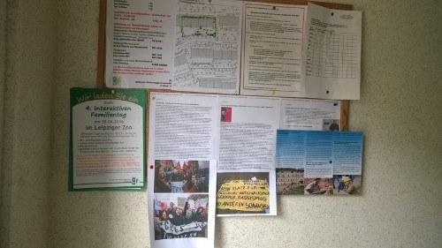 Halle an der Saale: rf-news als Wandzeitung