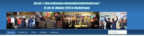 Internationale Automobilarbeiter schlagen Zukunftsprogramm vor