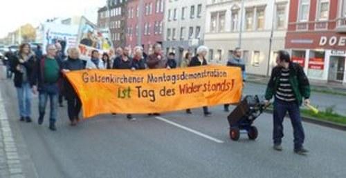 Montagsdemo Gelsenkirchen fordert Zuschüsse für das REBELL-Sommercamp