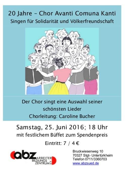 Stuttgart: Chor Avanti Comuna Kanti feiert Geburtstag
