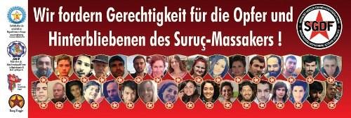 """""""Gerechtigkeit für Suruç! Gerechtigkeit für alle!"""""""