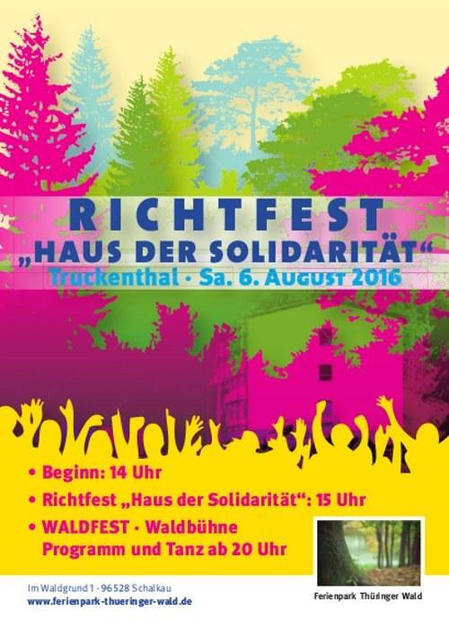 """Richtfest des """"Hauses der Solidarität"""" auf dem Sommercamp von REBELL und ROTFÜCHSE - der Countdown läuft"""