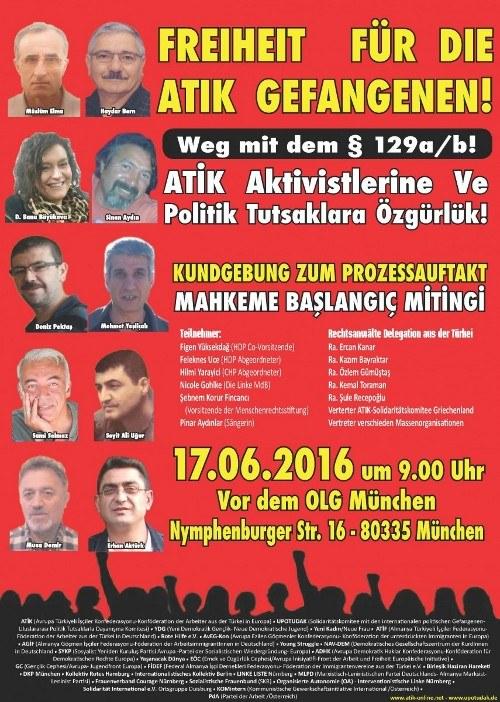Treffen zum Prozess gegen die ATIK am 14. Juli