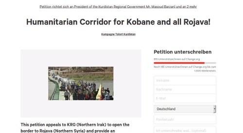 """""""Tatort Kurdistan"""" stellt Petition für einen Korridor nach Kobanê und Rojava online"""