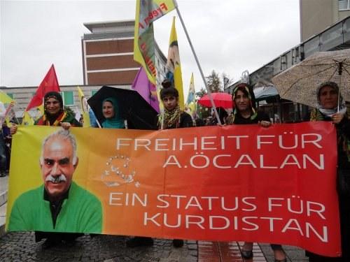 Demonstrationen für die Freilassung von Abdullah Öcalan