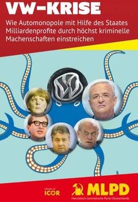VW soll die Folgen seiner Krise selbst bezahlen! Artikel auch im Flyer-Format