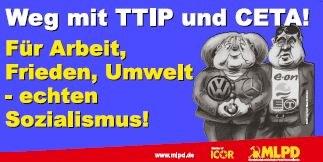 Transparent für Demonstrationen gegen CETA und TTIP