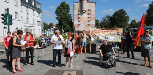 Protestkundgebung gegen Folgen des Bayer/Monsanto-Deals