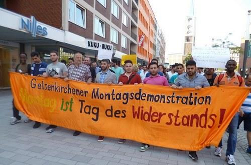 Regionale Montagsdemonstration gegen Wohnsitzauflage für Flüchtlinge am 26. September in Gelsenkirchen