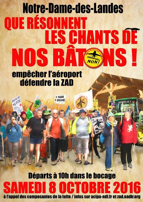 Frankreich: Am 8. und 9. Oktober gegen den Megaflughafen in Notre Dame des Landes