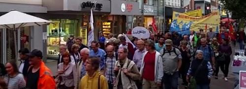 Ruhrgebietsweite Montagsdemo per Video erleben