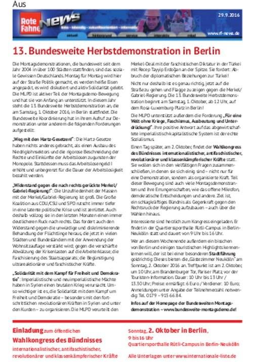 rf-news-Artikel zur 13. Bundesweiten Herbstdemo jetzt als Flugblatt