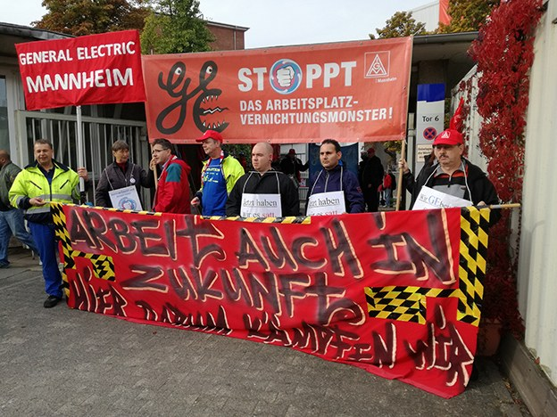 Belegschaft von GE Mannheim kämpft um ihre Arbeitsplätze