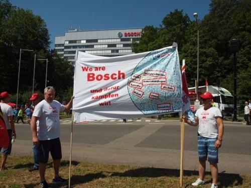 Sonderbetriebsversammlung bei Bosch Diesel Stuttgart: Unmut über Abwälzung der Folgen der VW-Krise