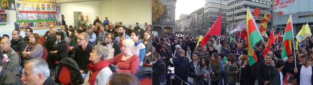 Starke Teilnahme am Welt-Kobanê-Tag in Stuttgart und Mannheim