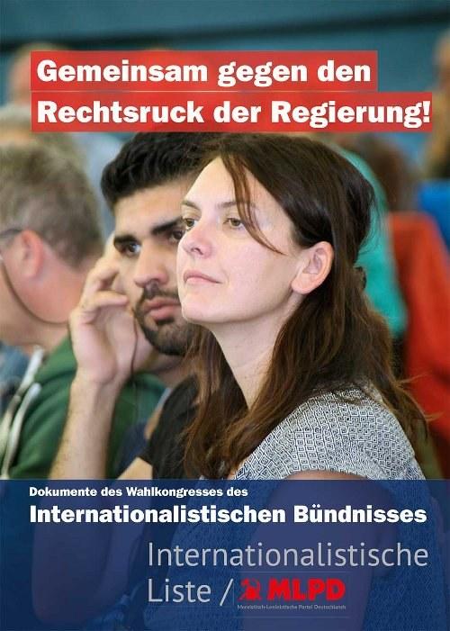 Broschüre zum Wahlkongress des Internationalistischen Bündnisses in zweiter Auflage