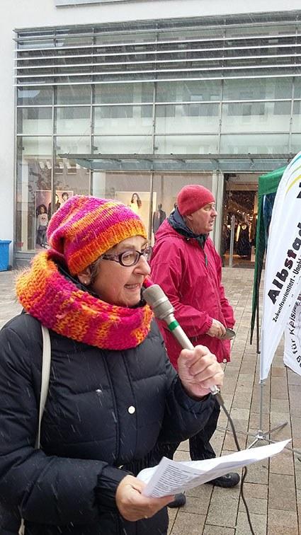 Kundgebung in Albstadt zm ICOR Umweltkampftag – Weltklimatag