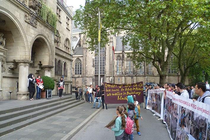 Duisburg: Montagsdemo gegen Wohnsitzauflage – Internationalistisches Bündnis unterstützt Protest