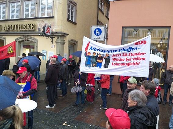 Kämpferischer Protest gegen Stellenabbau bei Bosch AS in Schwäbisch Gmünd
