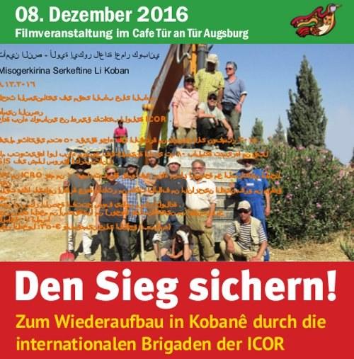 """Augsburg: Film """"Den Sieg sichern"""" wird auf Kurdisch und Arabisch gezeigt"""
