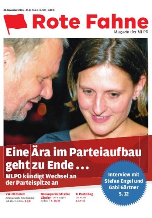 Rote Fahne Magazin 24/2016 als pdf-Datei zum Herunterladen