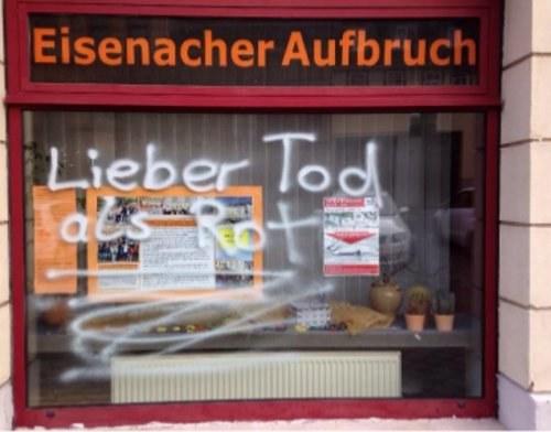 """""""Schmierereien zeigen, wer das politische Klima in Eisenach vergiftet"""""""