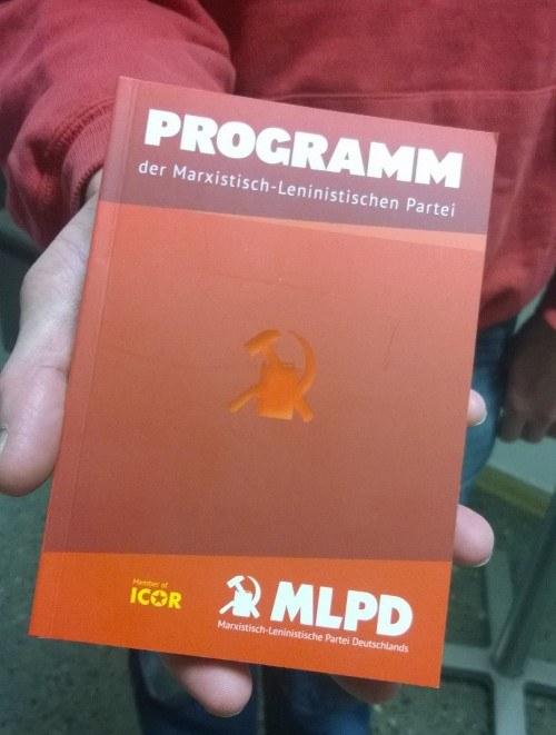Überarbeitetes Programm der MLPD ist heute erschienen
