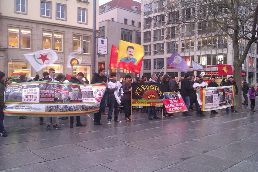 Demonstrationen für die Rechte des kurdischen Volkes