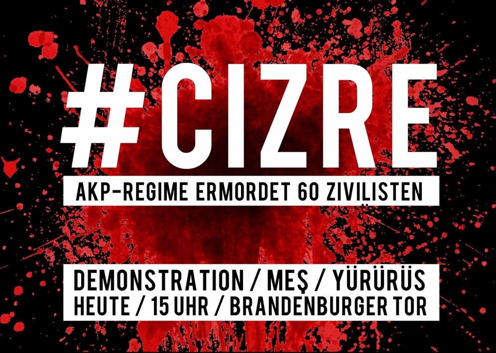 Monika Gärtner-Engel protestiert gegen das barbarische Massaker in Cizre