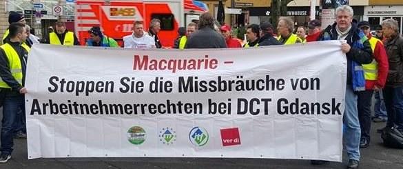 Solidarität mit den Kollegen im Danziger Tiefwasserhafen