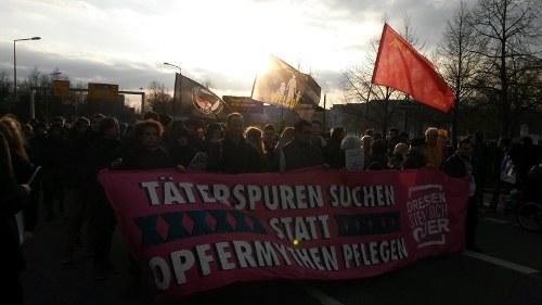 Antifaschistischer Mahngang in Dresden