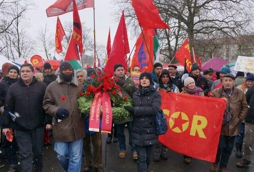 Heute in Berlin: Die größte Manifestation für den Sozialismus in Europa lebt - jung und voller Siegeszuversicht!