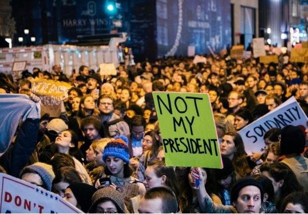 Massenprotest schon vor Trump-Vereidigung