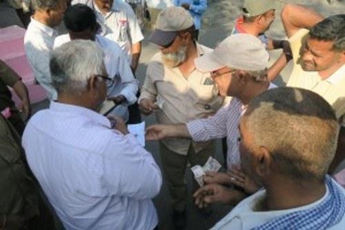 2. Internationale Bergarbeiterkonferenz: Werbeeinsatz im Singareni-Kohlerevier