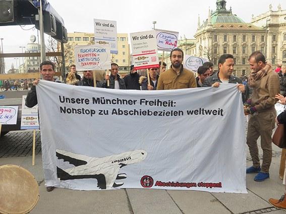 Rebell und Internationalistisches Bündnis organisieren Demonstration gegen Abschiebepolitik der Regierung