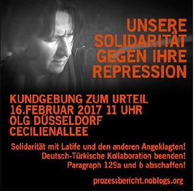 Solidaritätskundgebung mit Latife am 16. Februar