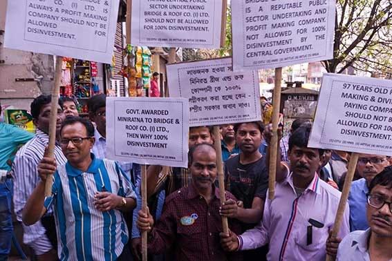 Kalkutta: Demonstration gegen Privatisierung