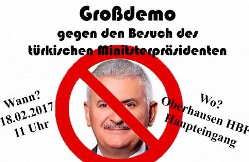 """""""Nein"""" zum Besuch des türkischen Ministerpräsidenten in Oberhausen"""