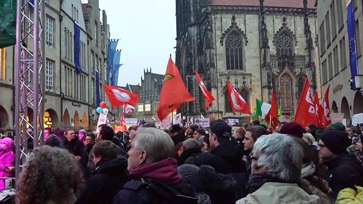 Münster: 10.000 gegen AfD auf der Straße