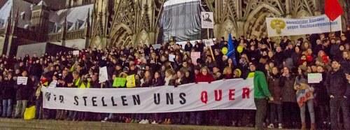 Köln stellt sich quer – Kein Raum für Rassismus