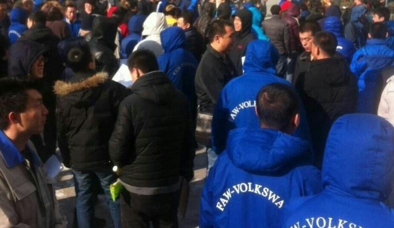 Chinesische VW-Arbeiter protestieren